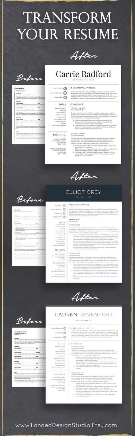 Completely transform your resume with a professional resume template
