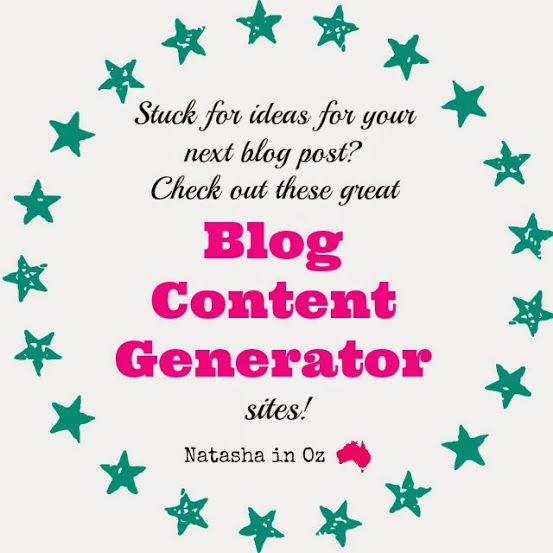 Got Bloggers Block? Stuck for ideas for your next blog post? Check out these great content generator sites via @natashainozblog