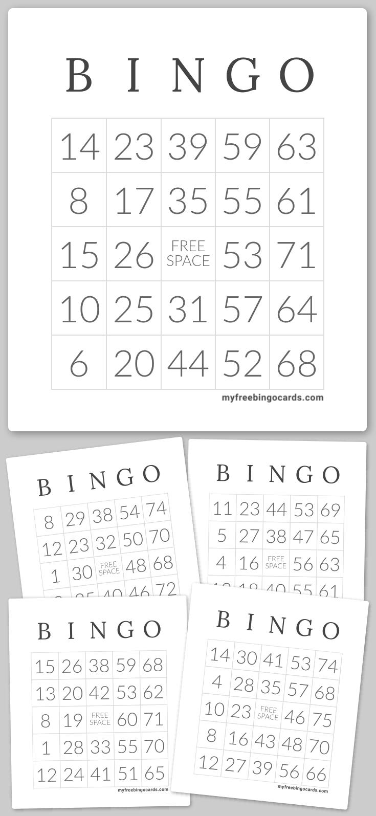 1 75 Number Bingo Bingo Cards Printable Free Printable Bingo Cards Bingo Cards