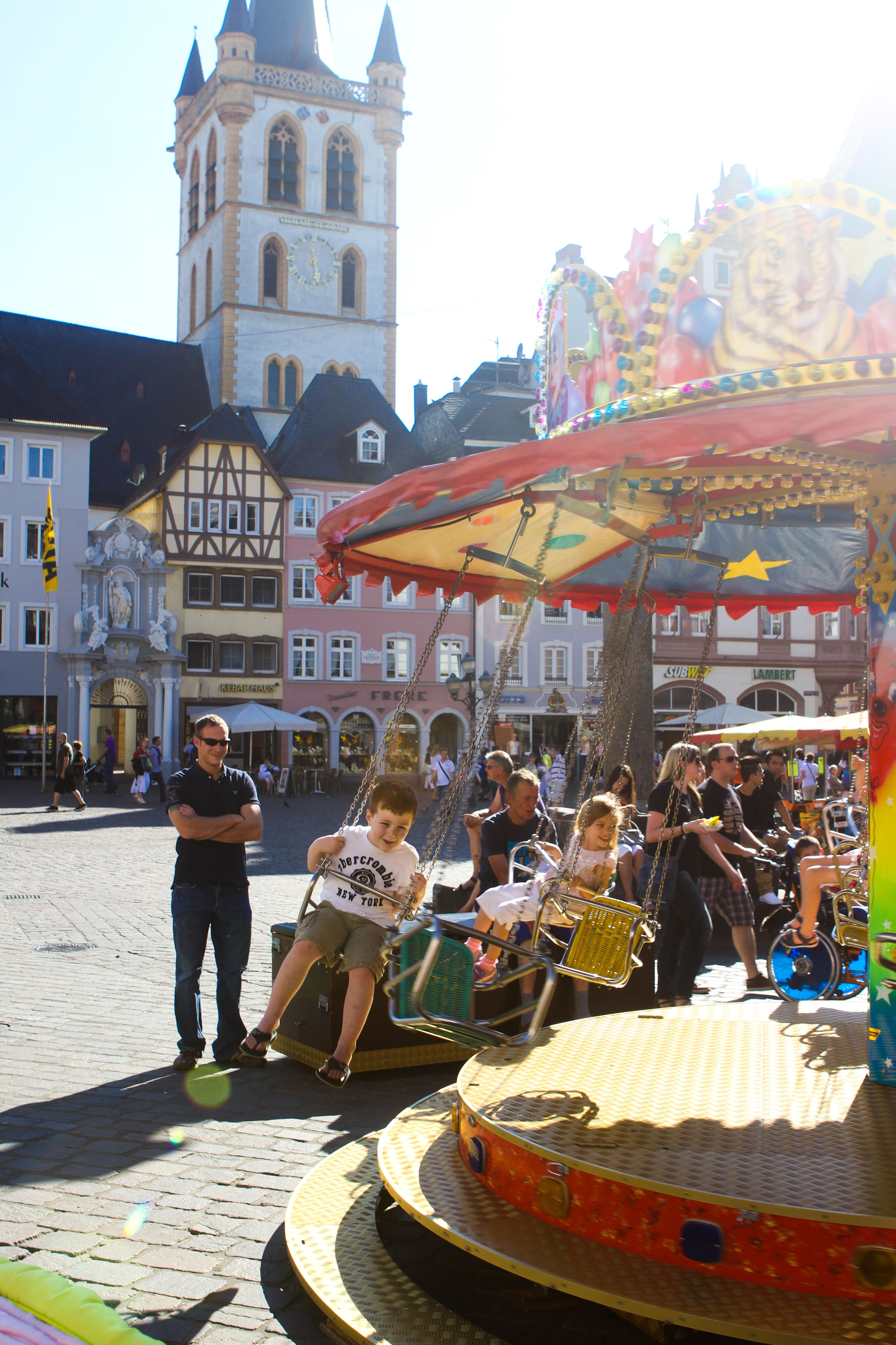 Swinging in the town square - Trier, Germany | Germany