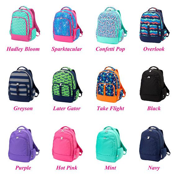 Kids Backpacks, Backpack for Girls, Monogrammed Backpack