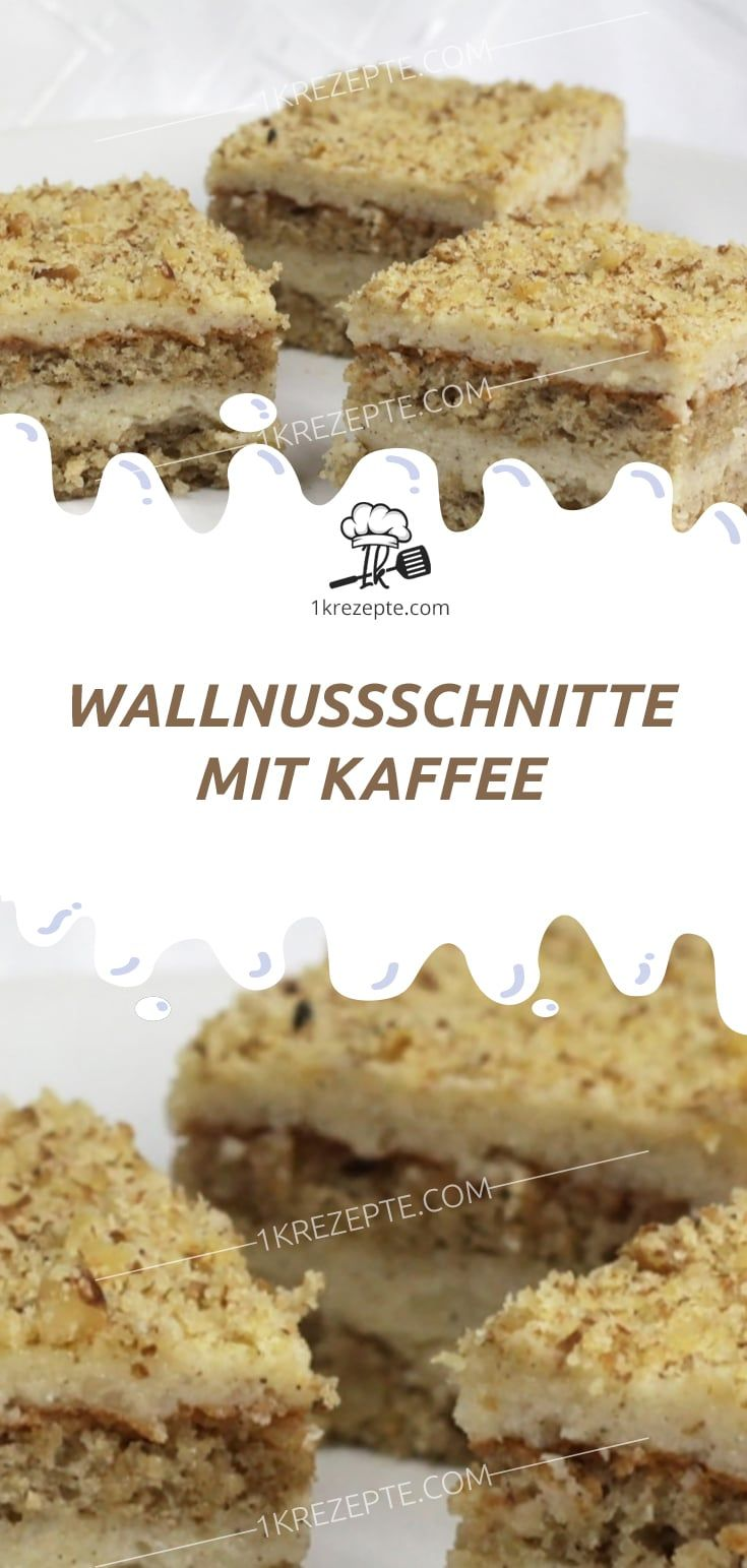 WALLNUSSSCHNITTE MIT KAFFEE #espressocoffee