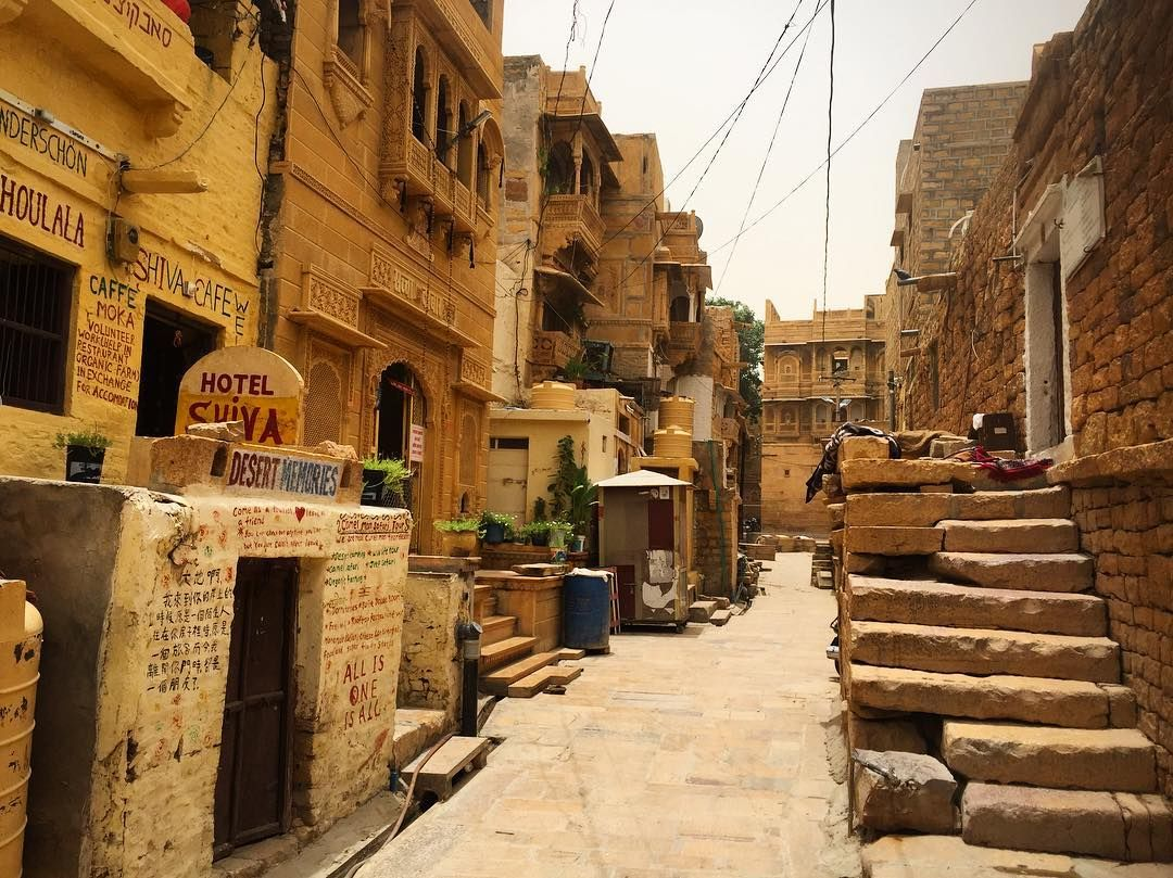 The beautiful streets of the Golden Fort #jaisalmer #india #rajasthan #asia #fort #gold #golden #yellow #street #travel #architecture #view #beautiful #explore #world #city by maxaudet11 http://bit.ly/AdventureAustralia