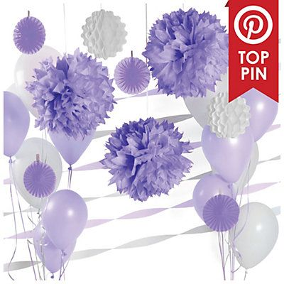 Purple U0026 White   Baby Shower Decoration Kit | BigDotOfHappiness.com