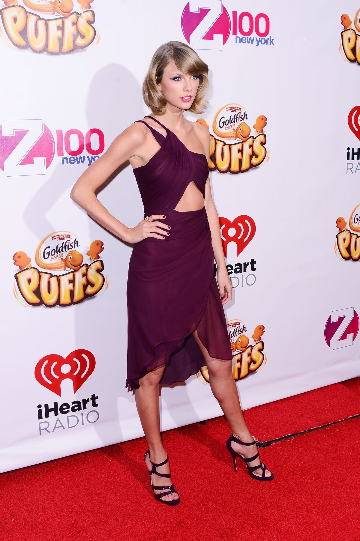 TAYLOR SWIFT at Z100's Jingle Ball 2014 in New York.