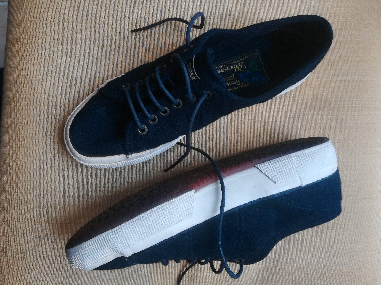 fec2a72fd510b SUPERGA MOESSMER Tennis SHOES Vintage 80 Woman Lace Up Tennis Shoes ...