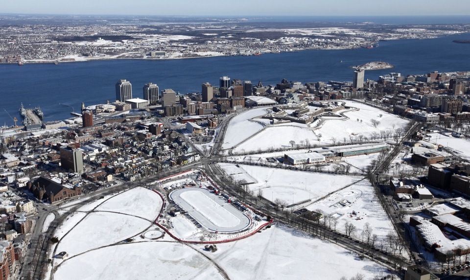 winter in Halifax Aerial view, Aerial, Aerial photo