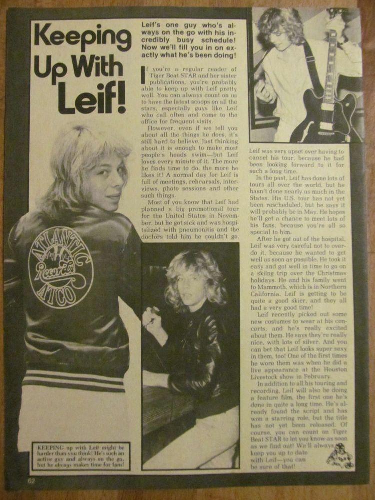 Leif Garrett, Full Page Vintage Clipping