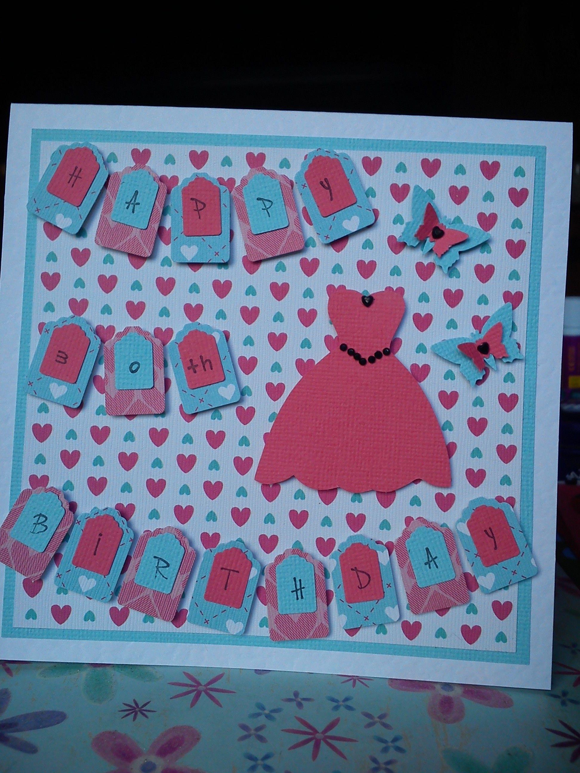 Handmade 30th birthday card made with pretty papers – Handmade 30th Birthday Cards