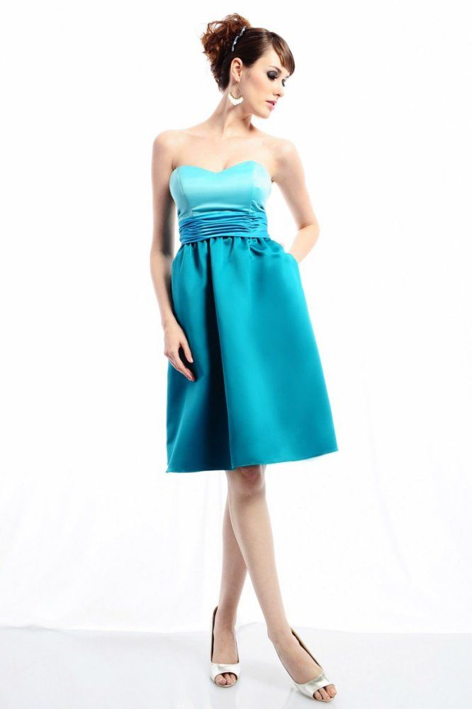 A-line Sweetheart Ruched Waistband Gathered Skirt Satin Cocktail Dress-soc0061,  $157.95
