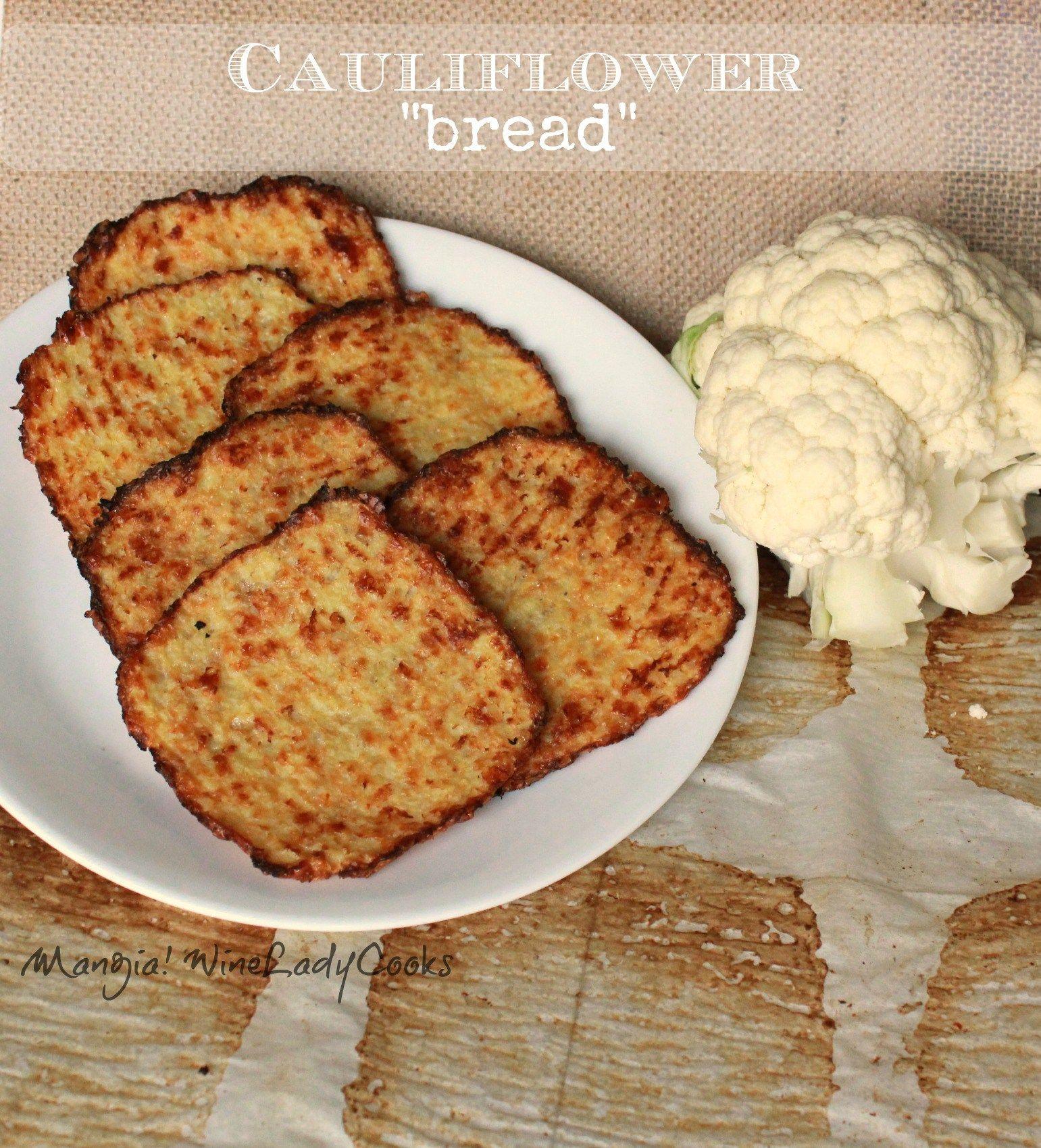 Homemade Cauliflower Bread Slices Gluten Free Recipe