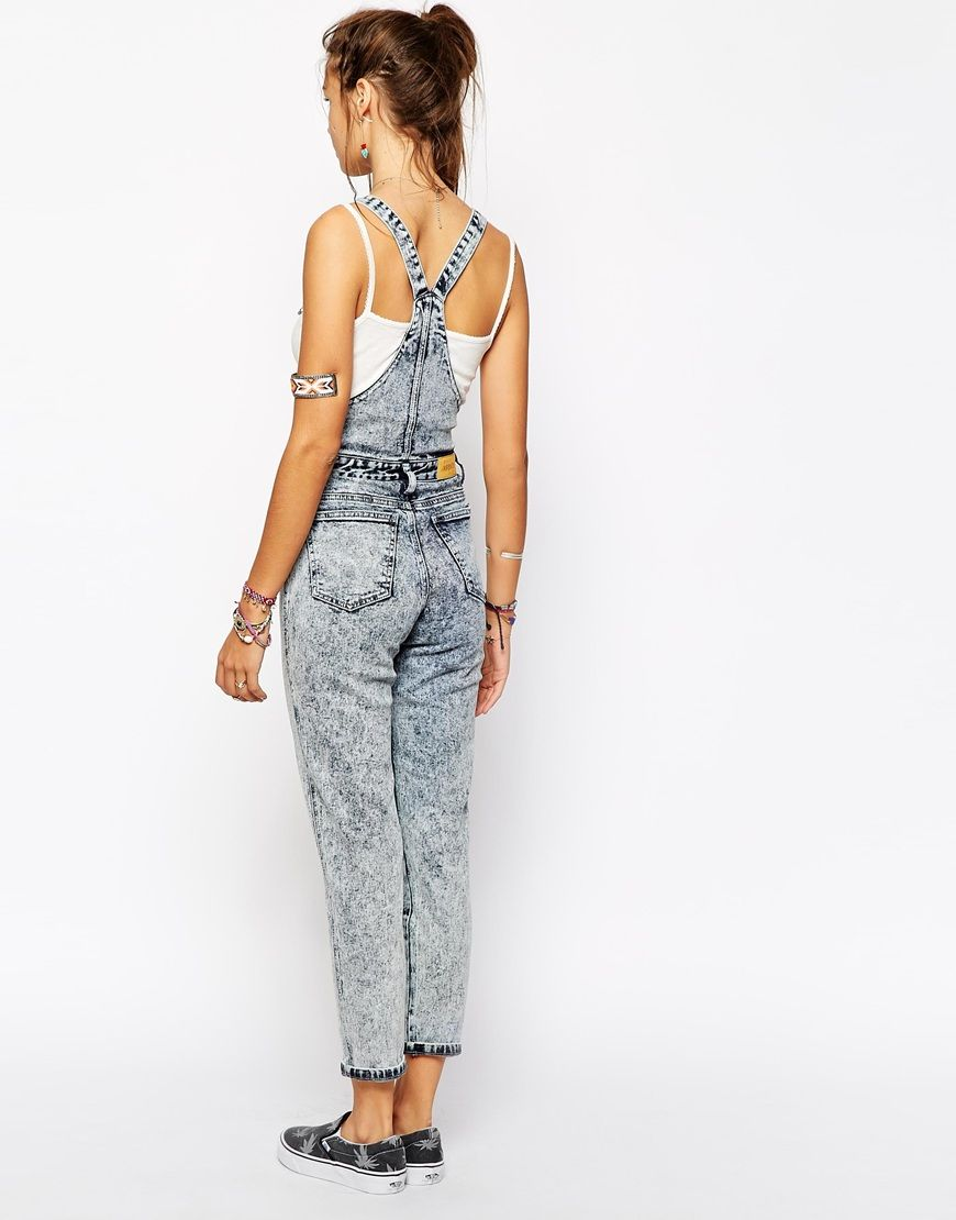 Afends Bleach Wash Dungarees | 85 #ASOS