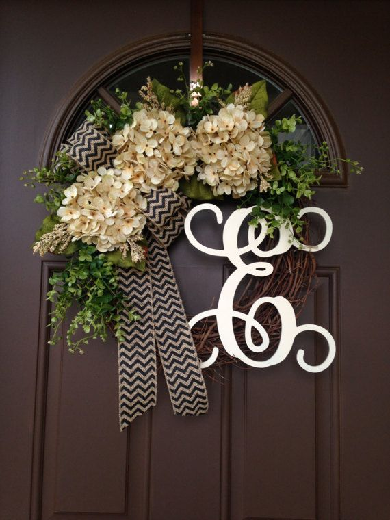 Spring Wreaths For Front Door Year Round Door Wreath By Flowenka