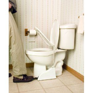 This Toilet Seat Pedal Is A Brilliant Solution To End Fights Over
