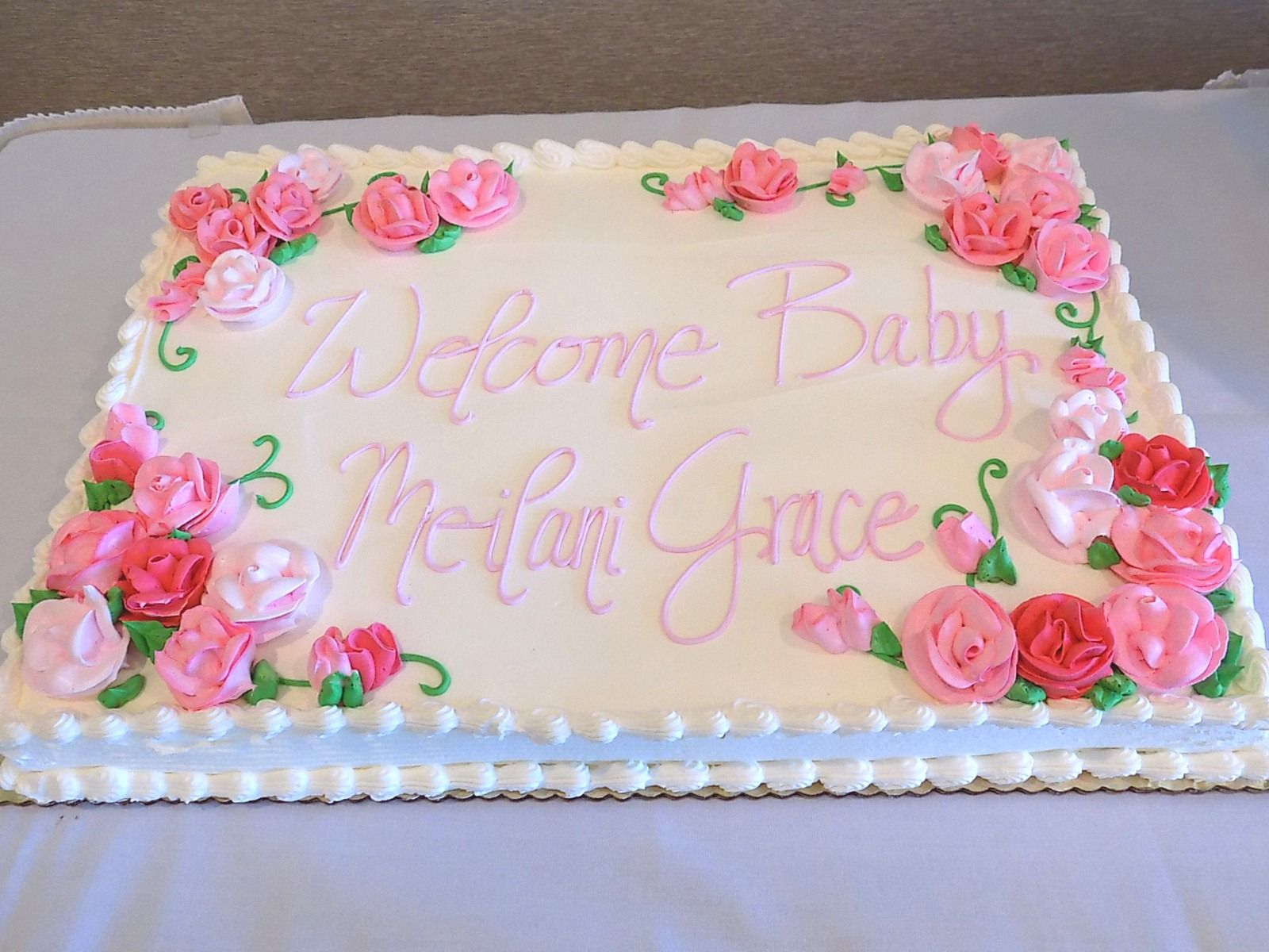Baby Shower Cake With Images Baby Shower Cakes Girl Baby