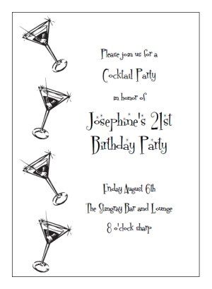 Printable Cocktail Party Invitation Templates Print And Make Your - Cocktail party invitation templates