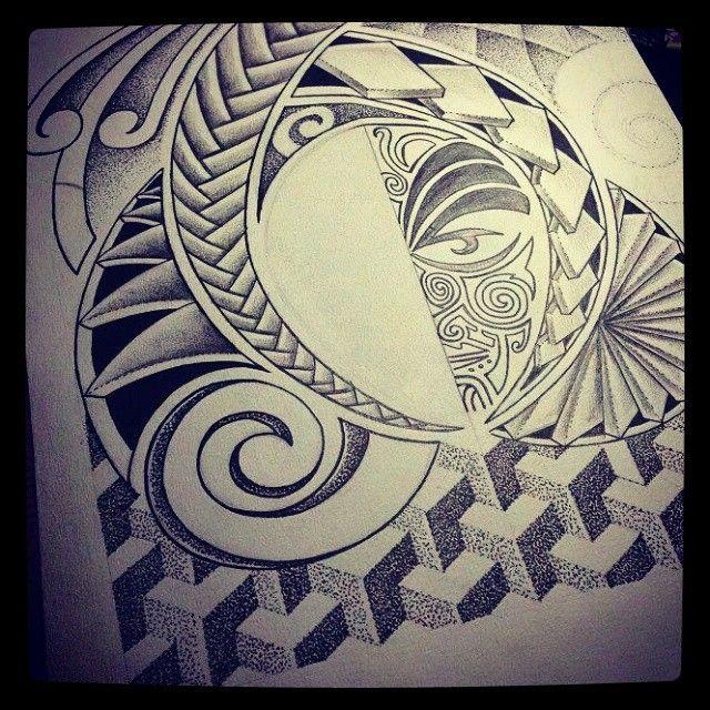 Sleeve Tattoo Generator: Unfinished #sketch ¾ #arm #sleeve #polynesian #geometric