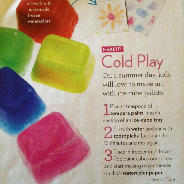Ice Cube Painting Children Activities At Home Craft