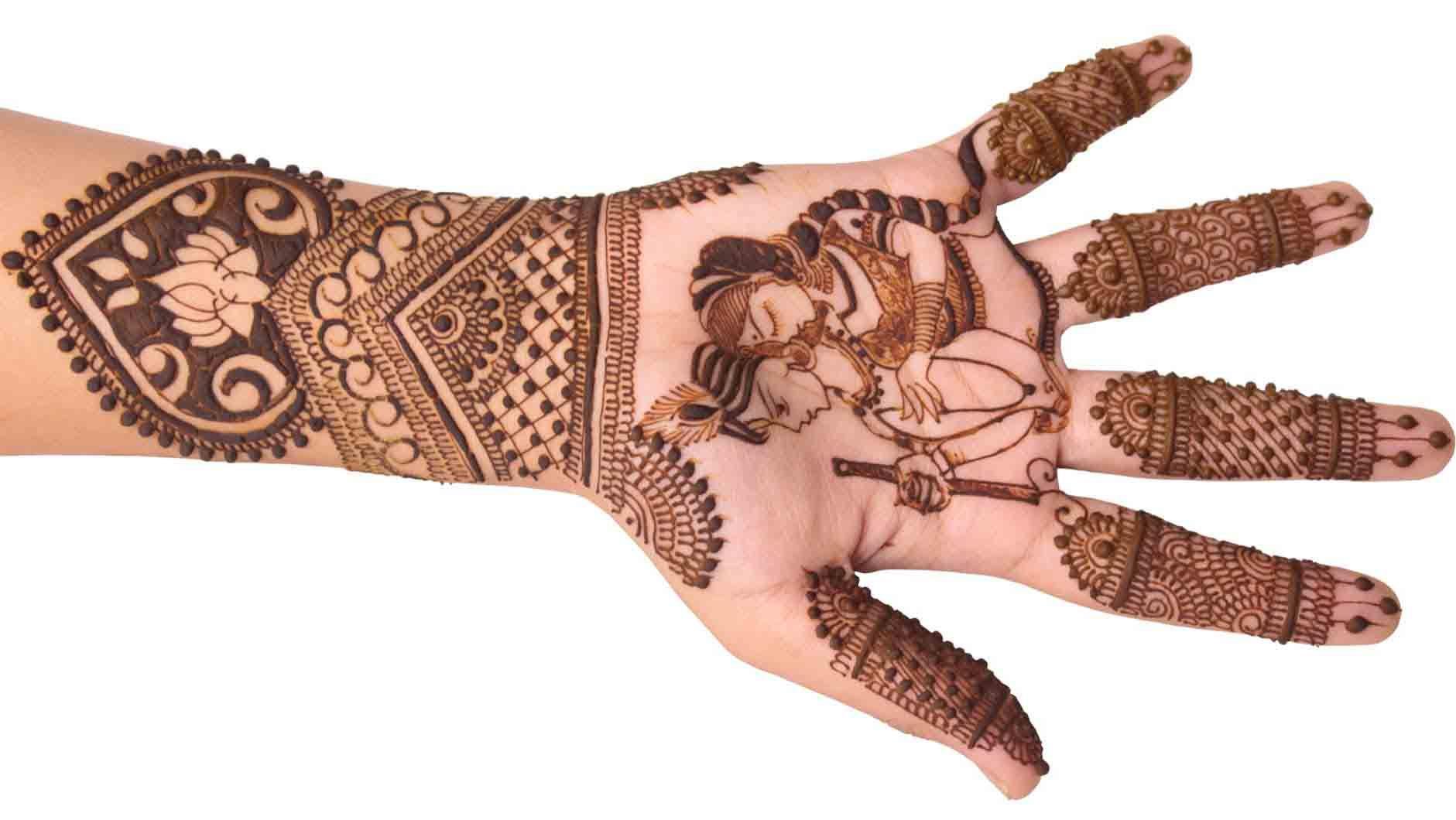 Mehndi Designs Mehndi Design : Radha krishna designer mehndi #mehndidesign #henna #hennadesign