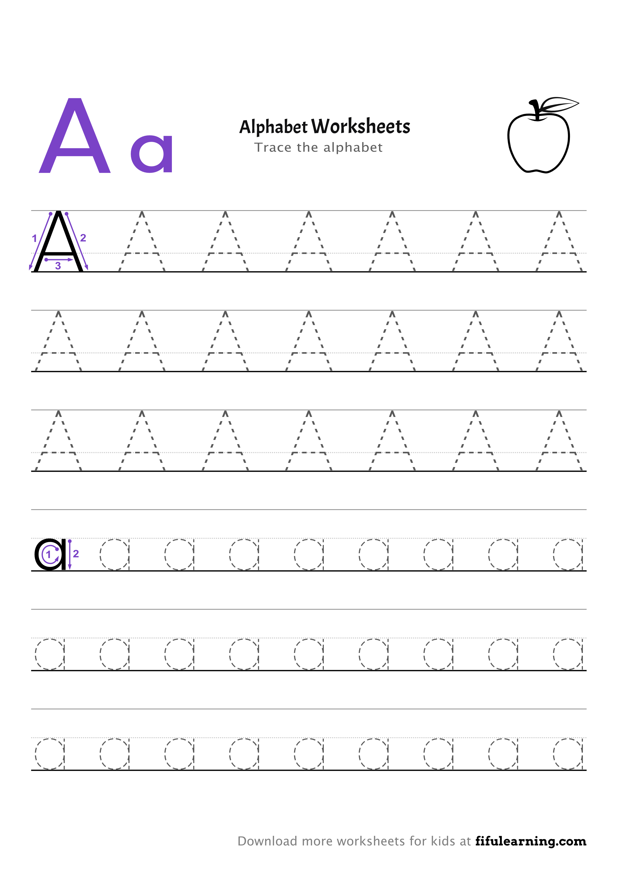Tracing Alphabet Worksheet For Kids A A Worksheets Alphabet Worksheets Worksheets For Kids [ 3507 x 2481 Pixel ]
