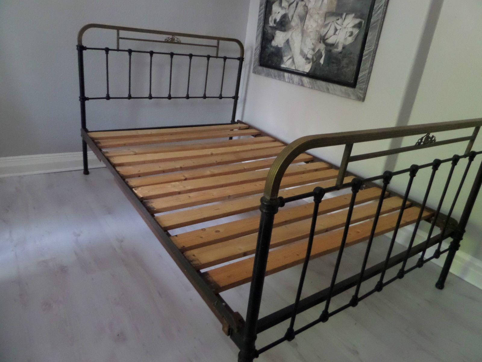 Antikes Franzosisches Bett Metall Eisen Antik Jugendstil