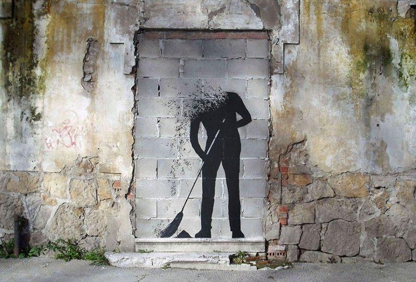 Spanish Artist Pejac Spreads Poetic Street Art Around European Cities by http://www.funnynlol.com/creative/poetic-street-art-european-cities-pejac