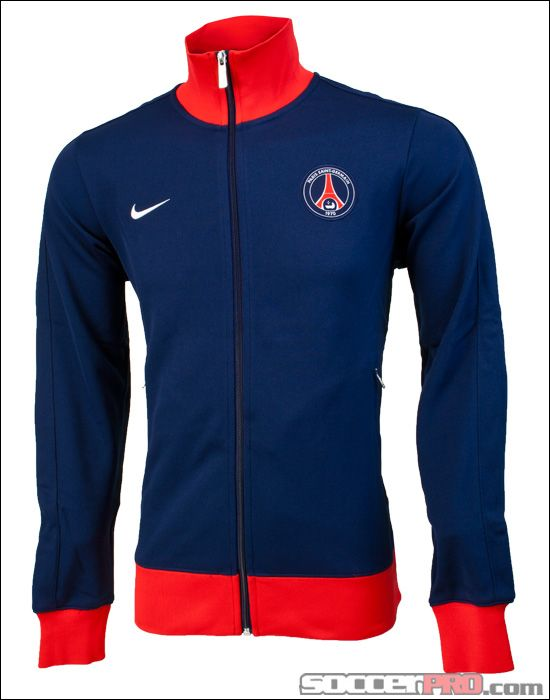 Nike Performance PARIS ST. GERMAIN HOODIE - Jersey con capucha - loyal blue/challenge red COawkL