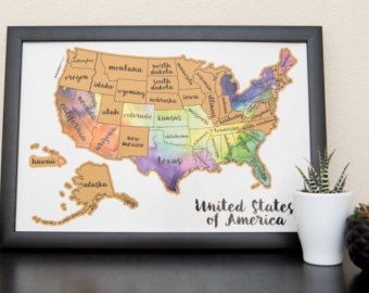 Scratch your travels map united states of america usa us free shipping scratch your travels map united states of by kuulys gumiabroncs Images