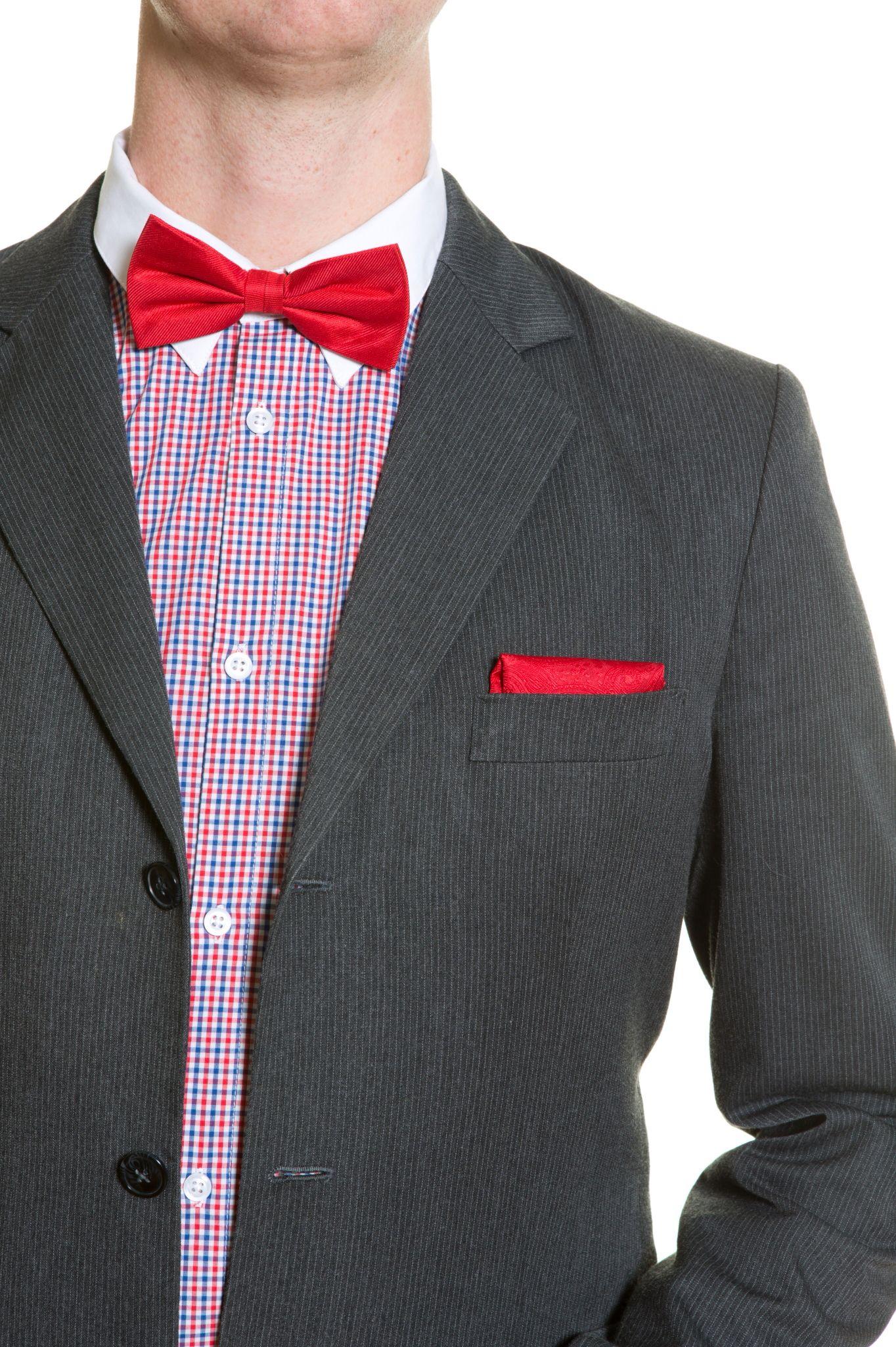 Handkerchief from Tieroom, Notch RANDAL, red paisley pattern Notch