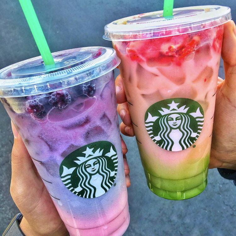 Ombre Rainbow Drink von Starbucks #starbucksfrappuccino