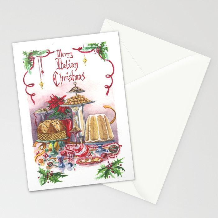 Italian Christmas Card no.3 Stationery Cards #natale #cartolina ...