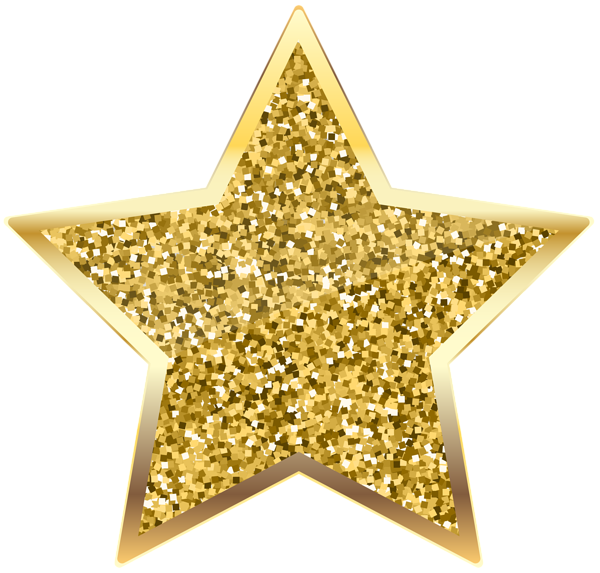 Golden Deco Star Transparent PNG Clip Art Bolo turma da