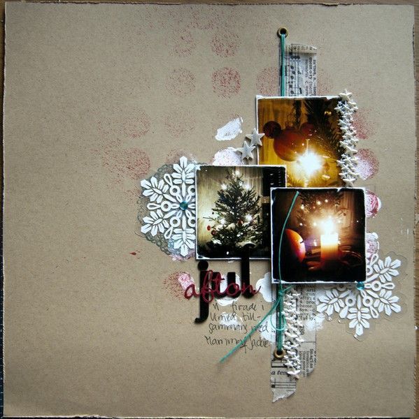 kraft paper and snowflakes!
