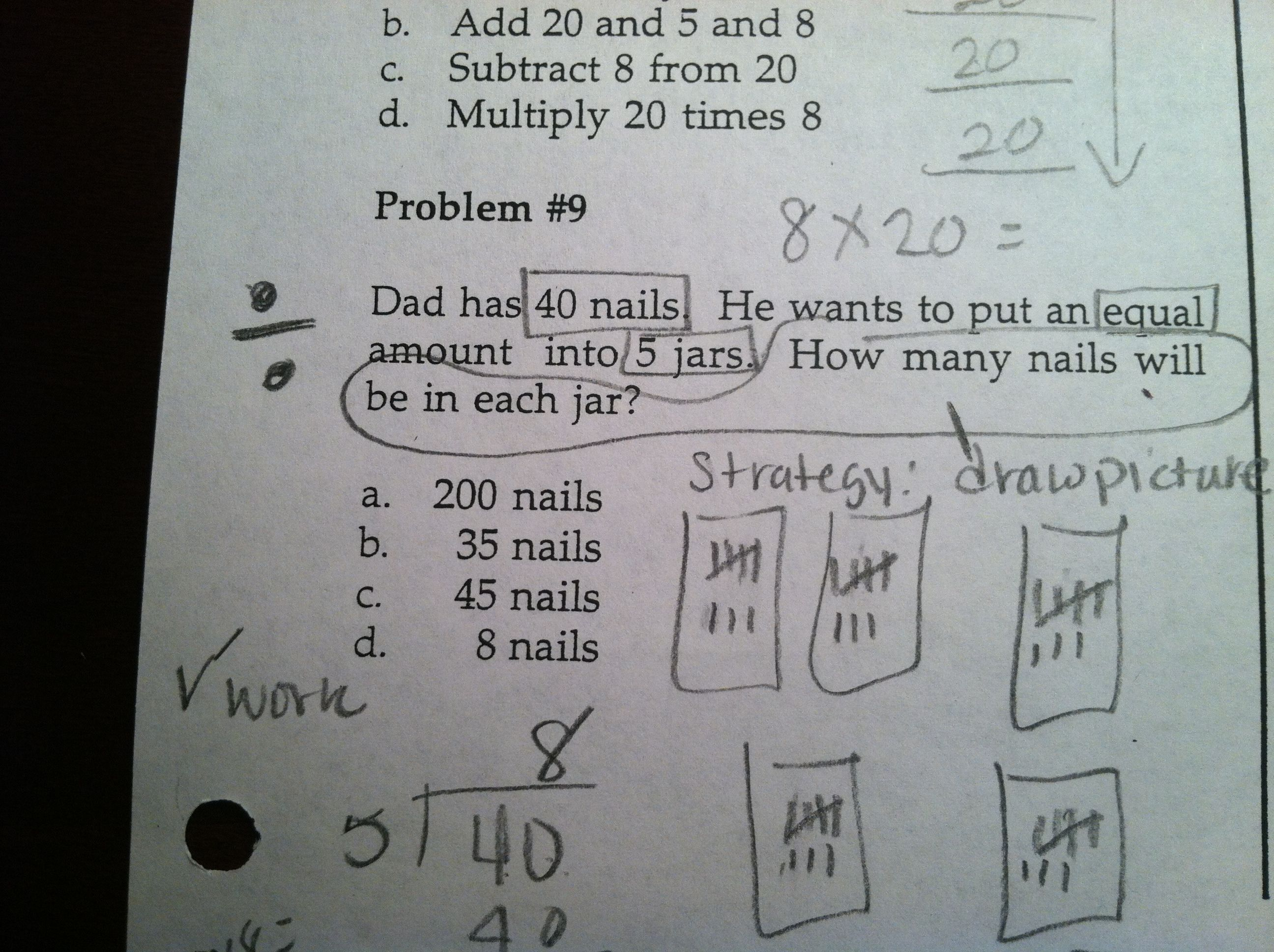 how to solve math word problems strategies