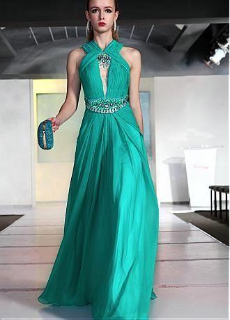 Bright green Long Prom Dress!