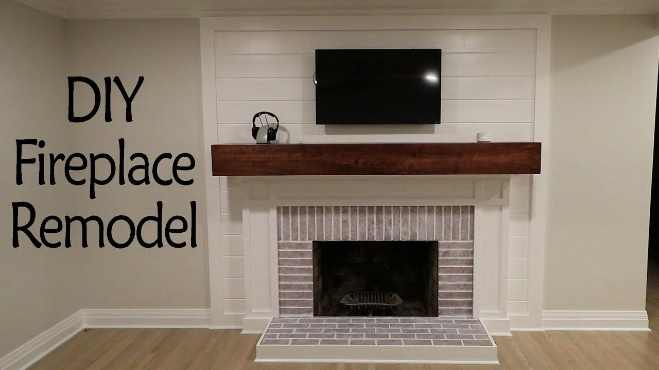 Diy fireplace remodel pt 2 shiplap painting and more