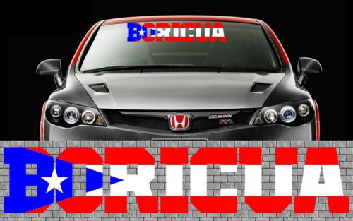 Puerto rican puerto rico flag decal vinyl stickers