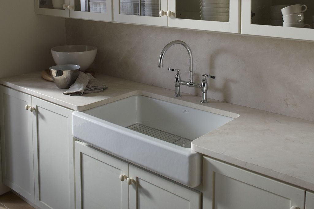 Whitehaven Self Trimming 36 L X 22 W Undermount Kitchen Sink
