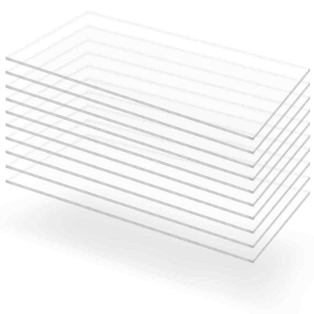 Vidaxl 10x Feuille De Verre Acrylique Transparent 60x120 Cm 3 Mm Plexiglas Avec Images Verres Acryliques Acrylique Verre