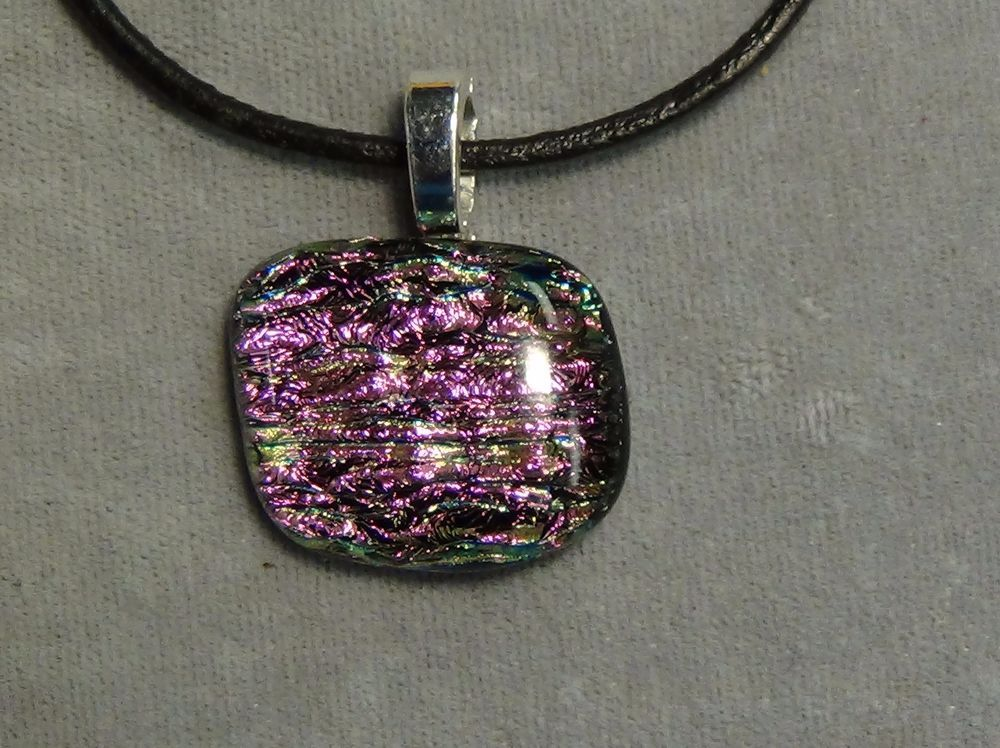Purple pendant sparkle dichroic fused glass 48 handmade purple pendant sparkle dichroic fused glass 48 handmade pendant mozeypictures Gallery