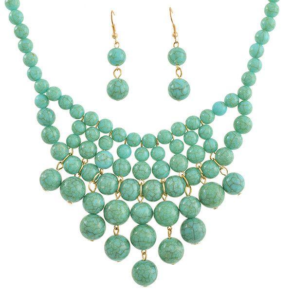 $38  Ruby Jewelry - Alexandra Bib Necklace Set