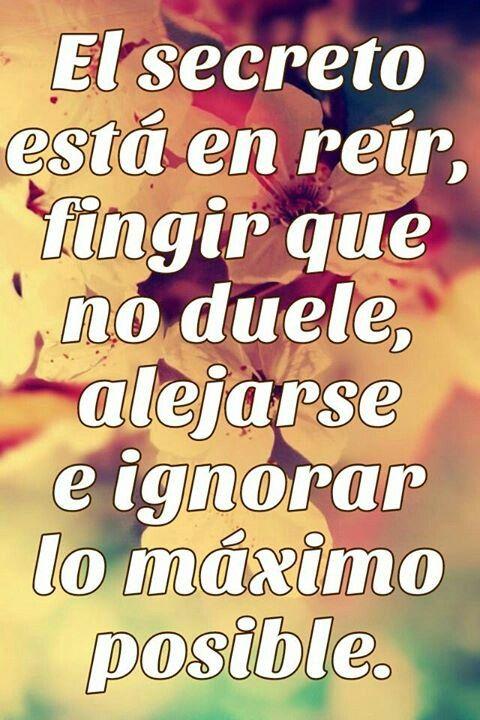 El secreto está en reír, fingir que no duele, alejarse e ignorar lo máximo posible.