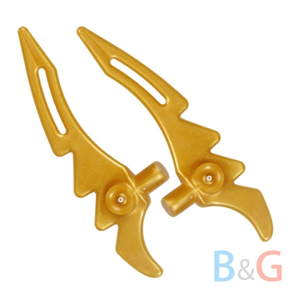 lego ninjago 2x golden blade weapon knife  gold minifig