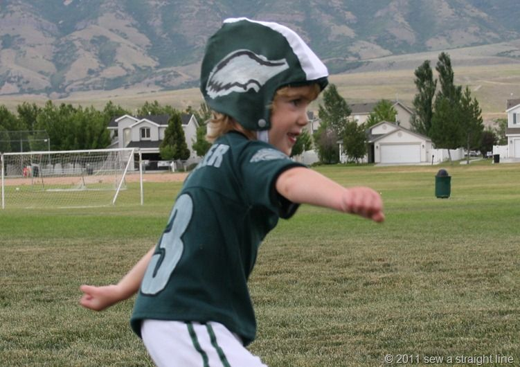 toddler football helmet and jersey