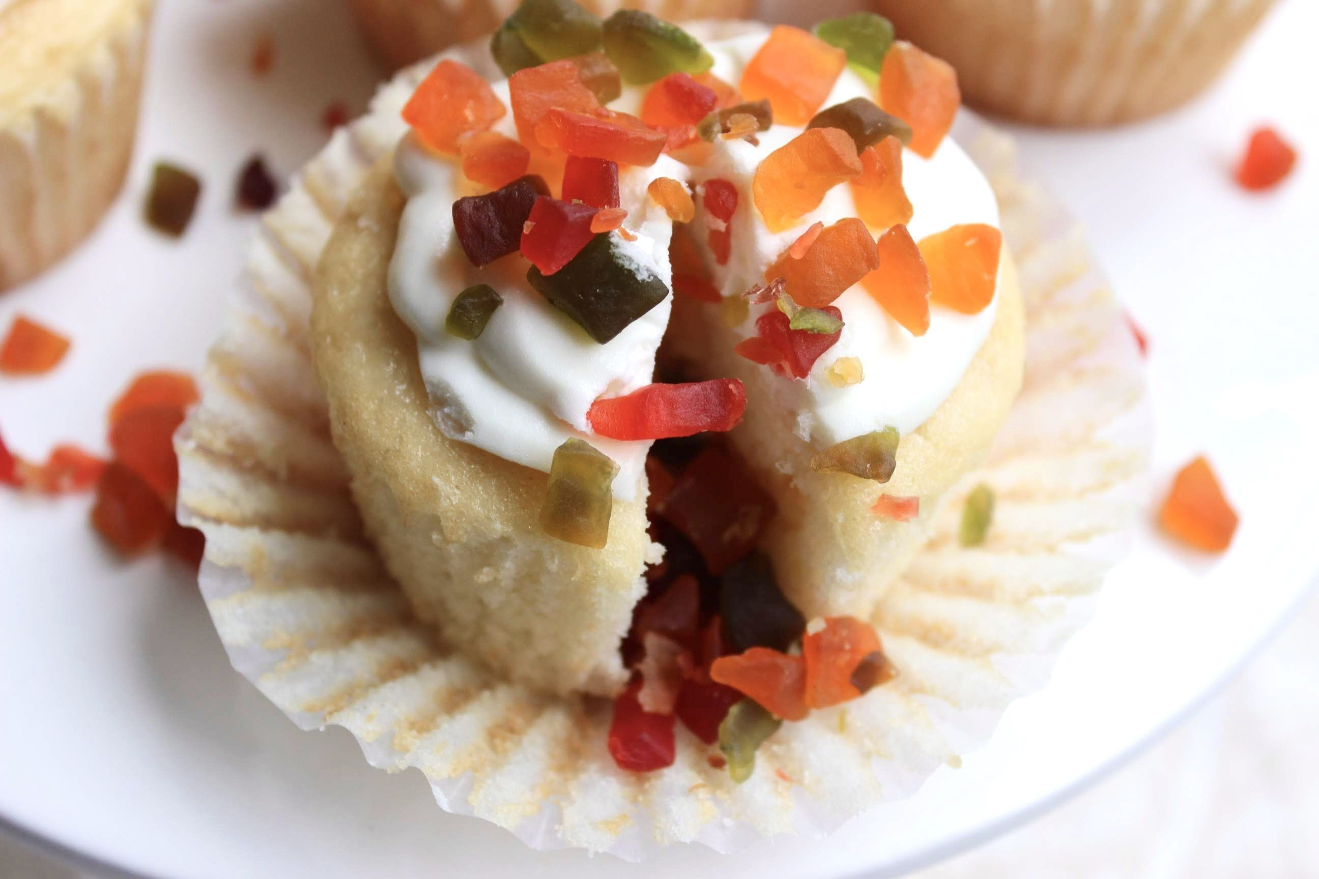 An ode to Childhood: Tutti Frutti Tres Leches Cupcakes #tresleches An ode to Childhood: Tutti Frutti Tres Leches Cupcakes