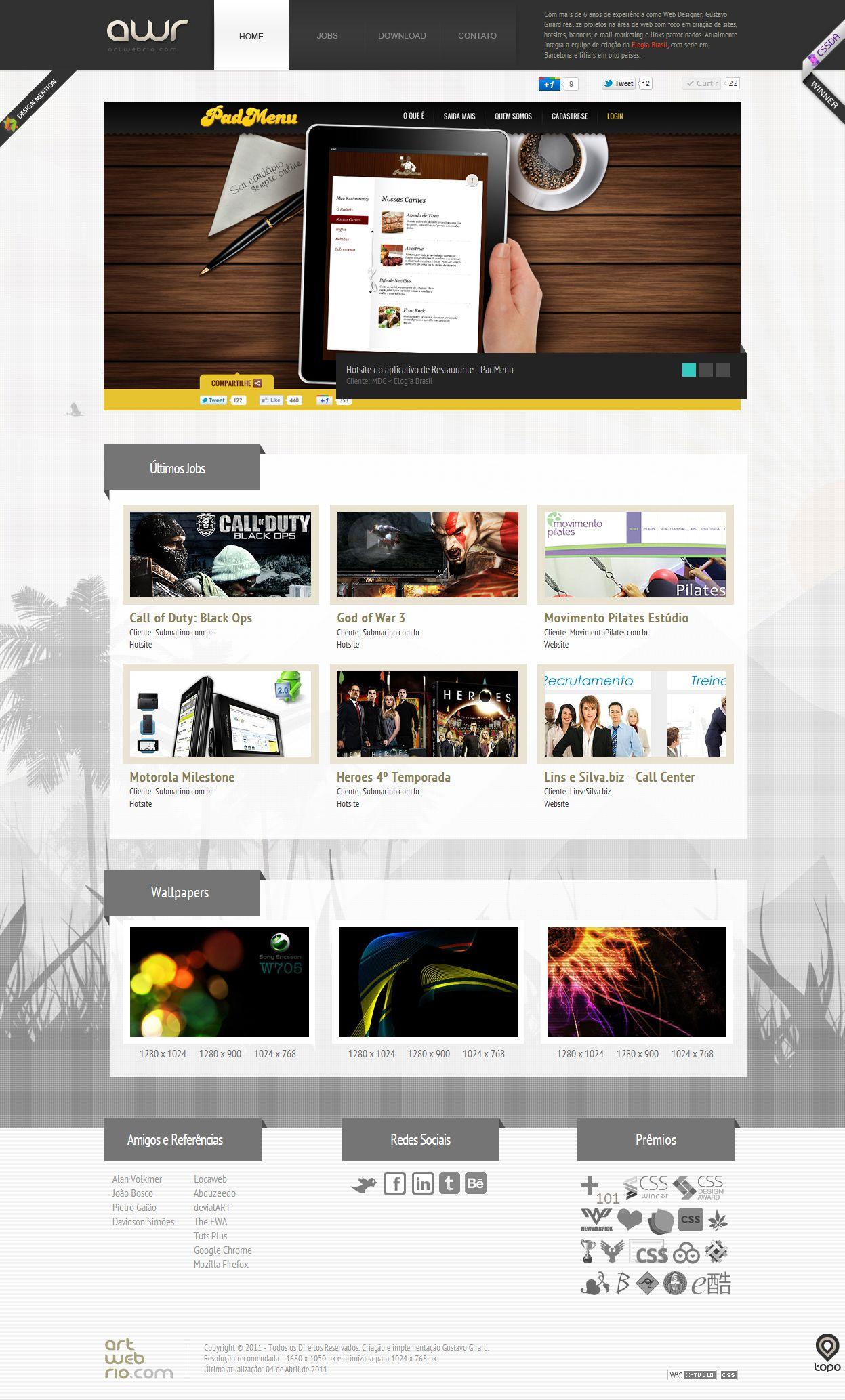 Gustavo Girard Web Designer Freelancer Com Experiencia Em