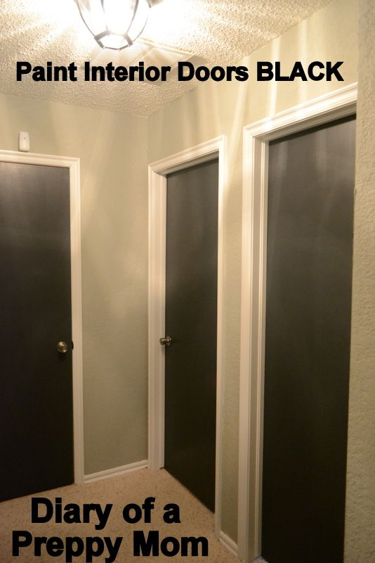 Upgrade Cheap Hollow Core Doors By Painting Interior Doors Black Diary Of A Preppy Mom The