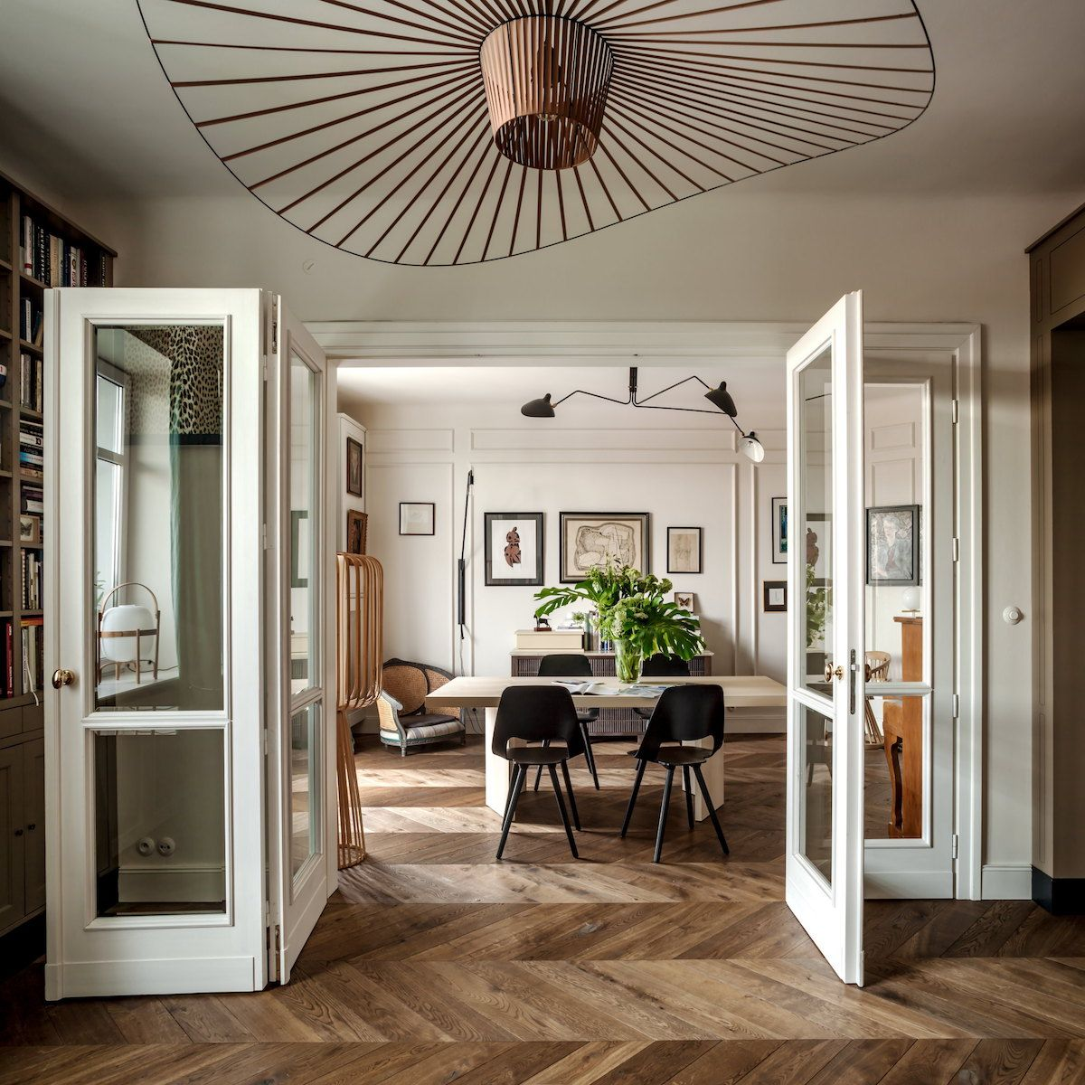 Appartamento in stile francese a Varsavia Foto Living