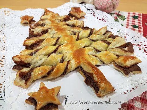 Arbol De Navidad Con Hojadre Y Chocolate Los Postres De Mami Recetas Faciles Y Dulces Hojaldre Con Nutella Postres Navidenos Hojaldre Con Chocolate