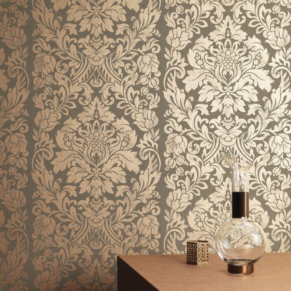 Graham Brown Copper Gloriana Wallpaper 33 329 Copper Wallpaper